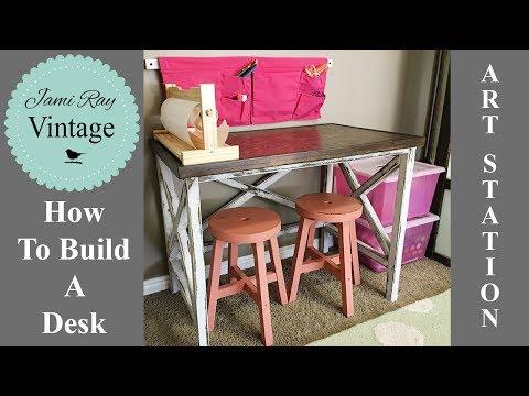 How To Build A Desk | Farmhouse Style Desk