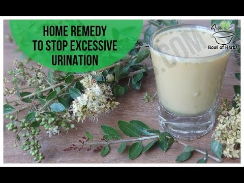 Home remedy for excessive urination - Home remedy