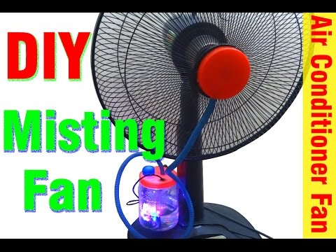 How to make misting fan at home - Diy air conditioner fan