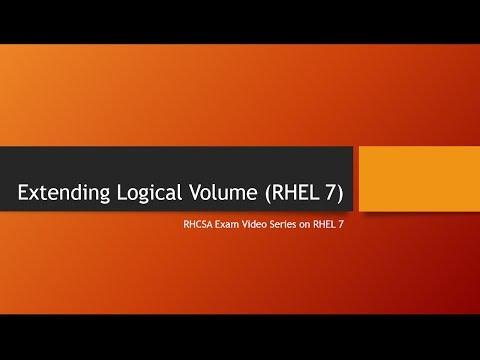Extending Logical Volume (RHEL7)