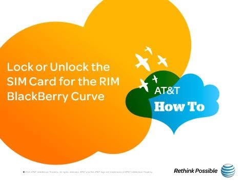Lock or Unlock the SIM Card for the BlackBerry Curve: AT&T How To Video Series