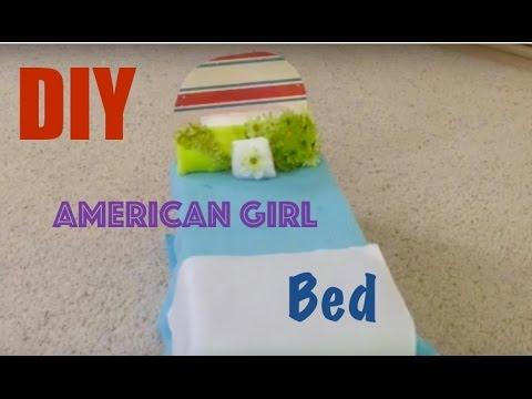 Diy American girl doll bed