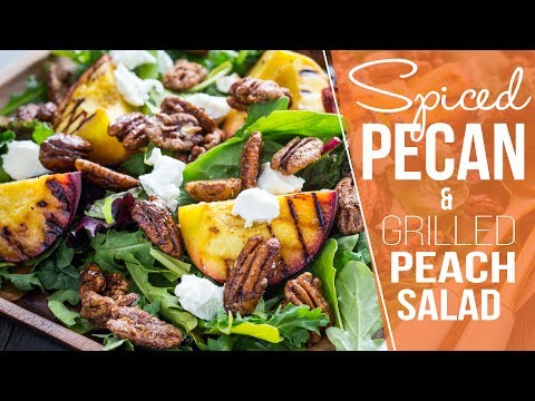 Spiced Pecan Grilled Peach Salad | AD