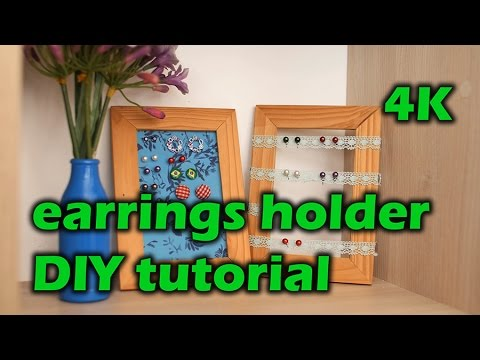 Earring holder DIY tutorial - IKEA hacks 4K