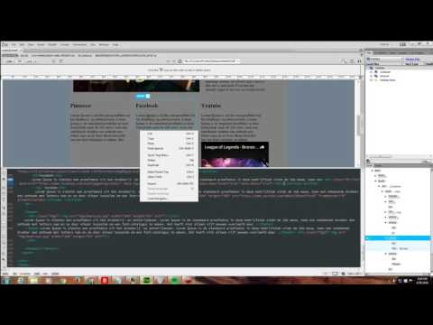 Dreamweaver - Tutorial - Links Youtube / Facebook / Pinterest