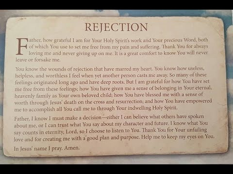 Healing Damaged Emotions: REJECTION