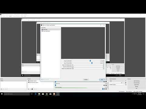 How to set up Noise Gate in OBS Open Broadcast Studio