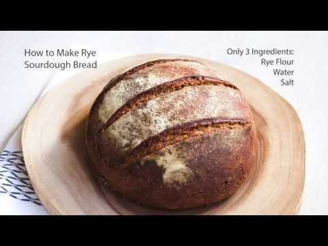 Bread making: How to make Rye Sourdough Bread from scratch.