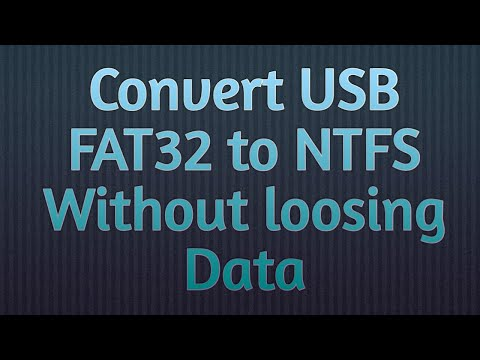 How to convert Fat32 to NTFS without Formatting