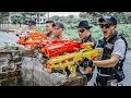 LTT Game Nerf War Police Patrol Warriors SEAL X Nerf Guns Fight Inhuman Group Hunter Hot Weapon