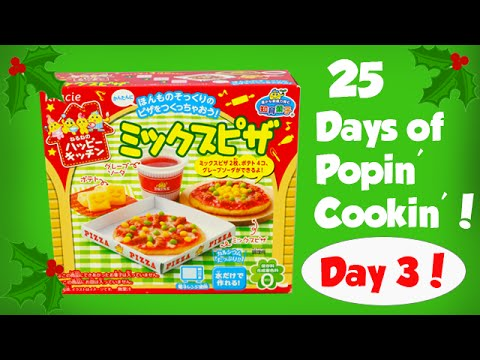 25 Days of Popin Cookin - Day 3 - Make Miniature Pizzas! Toy Reviews For You