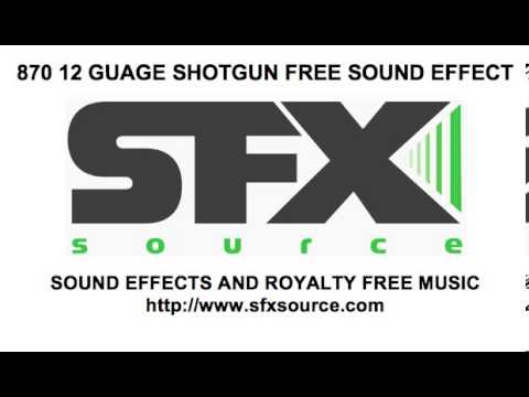 870 12 Guage Shotgun Blast Free Sound Effect
