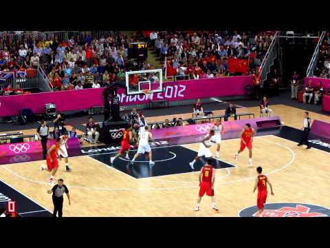 Opening tip off Great Britain vs China Mens Olympic Basketball London 2012