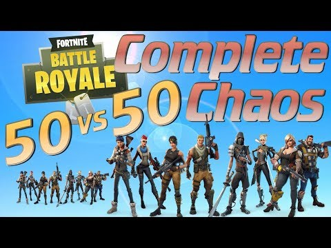 Fortnite Battle Royale 50v50 Madness: Absolute Carnage and Anarchy in Fortnite BattleRoyale PVP