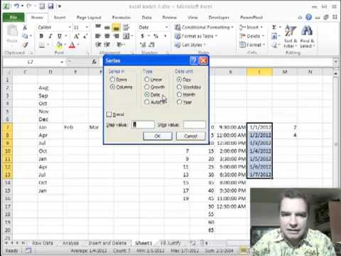 Excel Video 258 Fill Series