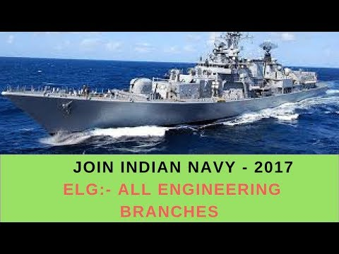 INDIAN NAVY RECRUITMENT FOR ALL ENGINEERING BRANCHES -2017