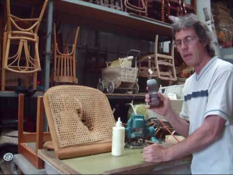 Chair Caning - How To - Pe-Woven Pt.1