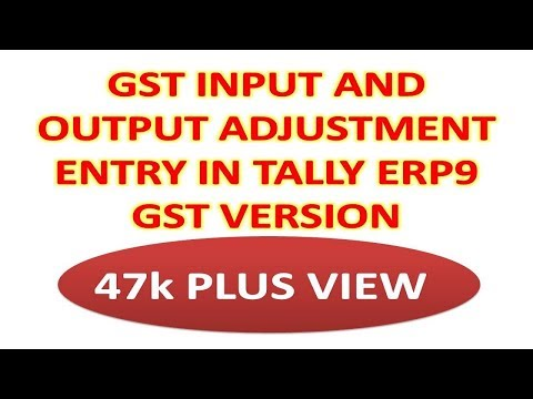 INPUT OR OUTPUT ADJUSTMENT ENTRY IN TALLY FOR GST | AND SOME QUERIES OF VIEWERS