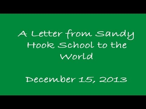 Sandy Hook School Thank You Letter to the World