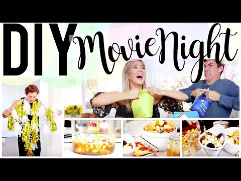 DIY MOVIE NIGHT: FOOD, DECOR & GAMES! | Meghan Rienks
