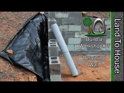 Build a Block Retaining Wall - Build a Workshop#2