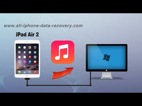 How to Backup Music from iPad Air 2 to PC without iTunes, iPad Air 2 Songs to Computer