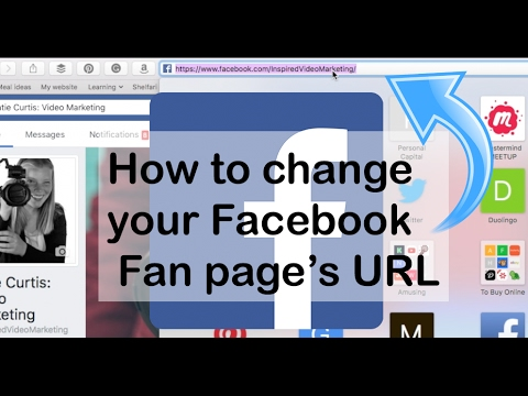 How to change your Facebook Username URL Link for your Fan or Business Page