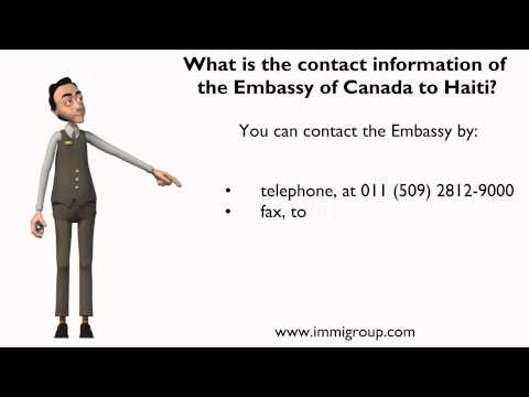 What is the contact information of the Embassy of Canada to Haiti?