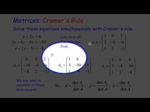 Matrices: Cramer's Rule