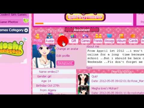 Igirlsgames :How to post a picture from the internet into your blog ?