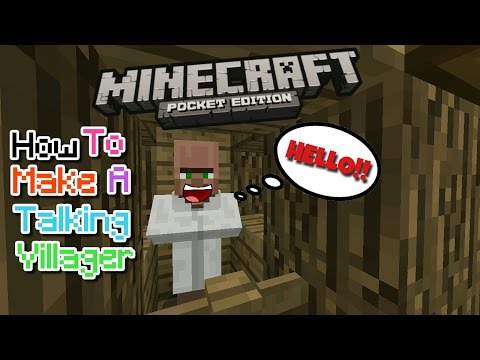 HOW TO MAKE A TALKING VILLAGER IN MCPE 1.1.0/1.0.5/1.0.6.0!!! | MCPE CREATION | NO MODS