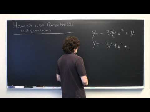 How to Use Parentheses in Equations