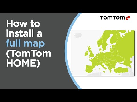 How to install a full map using TomTom HOME