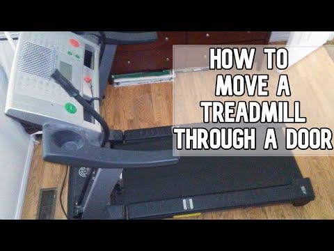 How to move a treadmill through a door way   Move a treadmill DIY video