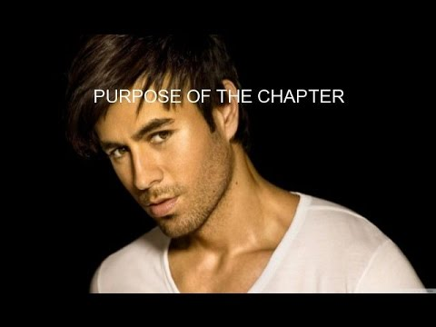 PURPOSE OF THE CHAPTER