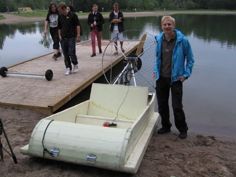Electric boat-airboat