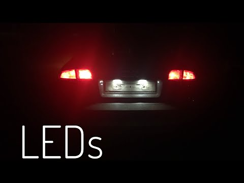 Changing Audi A4 License Plate Lights