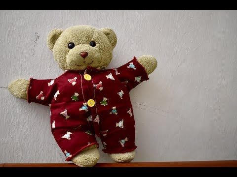 how to make sewing pattern for teddy bear pjs