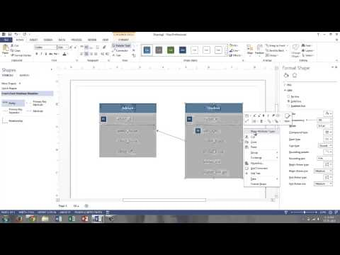 Visio 2013 Logical Data Models