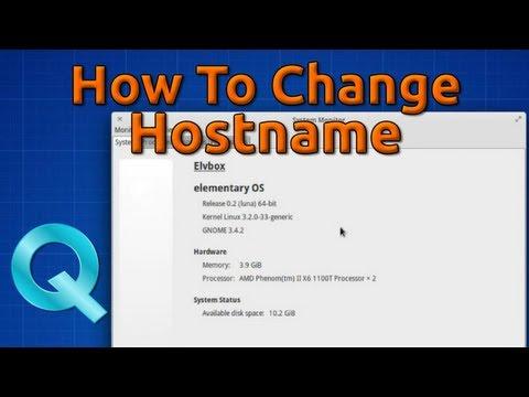 How to change Hostname / Computer Name in Ubuntu or Debian