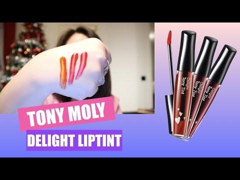 SWATCHES : TONY MOLY DELIGHT LIPTINT