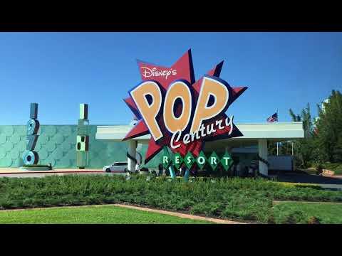 WDW 2018 - Travel and Pop Century Resort Refurbished Room