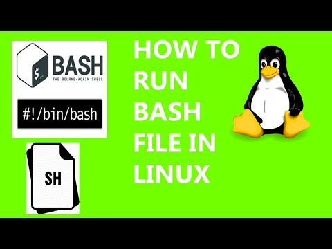 How To Run Bash File On Linux