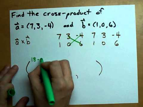 Find the cross-product of two vectors (Easy Method)