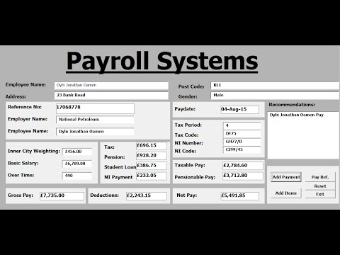 How to Create Payroll Systems in Excel Using VBA - Full Tutorial