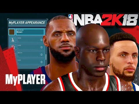 NBA 2K18 - HAIRSTYLES, Muscler BODY Types & Face Scans / The Art of 2K18