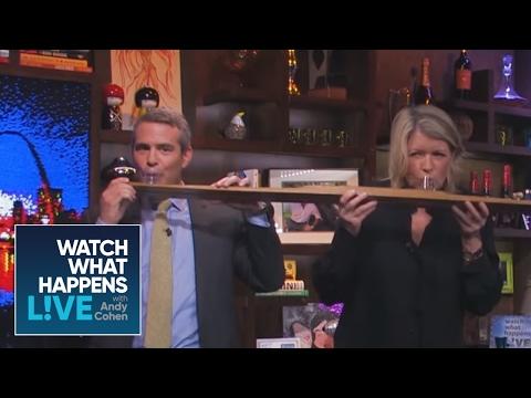 Martha Stewart Takes Her Third Clubhouse Shotski | WWHL
