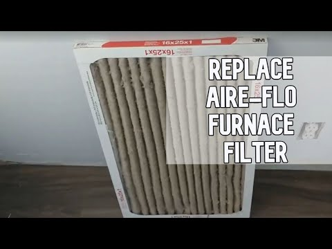 How to replace AIRE-FLO furnace filter DIY video #DIY #furnace #filter