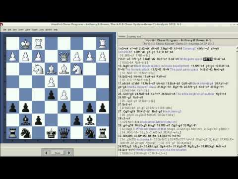 Houdini Chess Program Crushed!! - Using The A.R.B Chess System