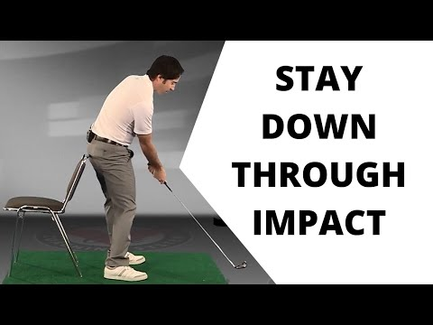 Golf Drill: Staying Down Through Impact